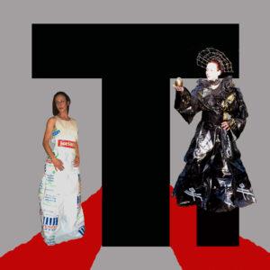 2 T plastic dresses